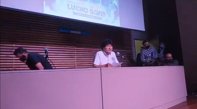 Urgente: Evo Morales dice que Luis Arce Catacora ganó la contienda electoral