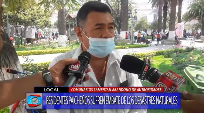 Lamentan falta de ayuda de autoridades para paliar desastres naturales en Paicho