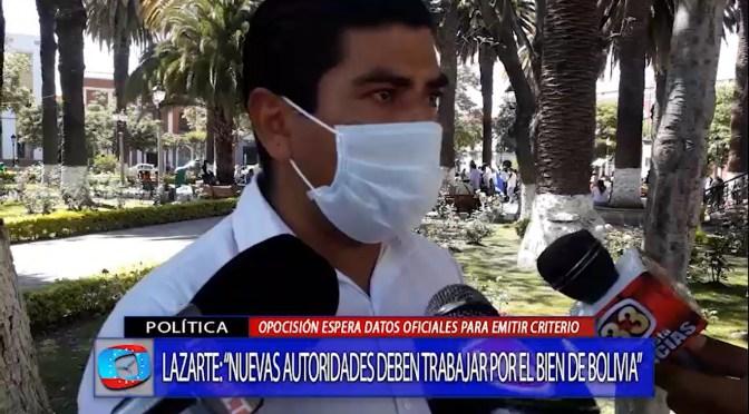 Diputado Lazarte pide a las autoridades electas trabawjar en consenso con la población
