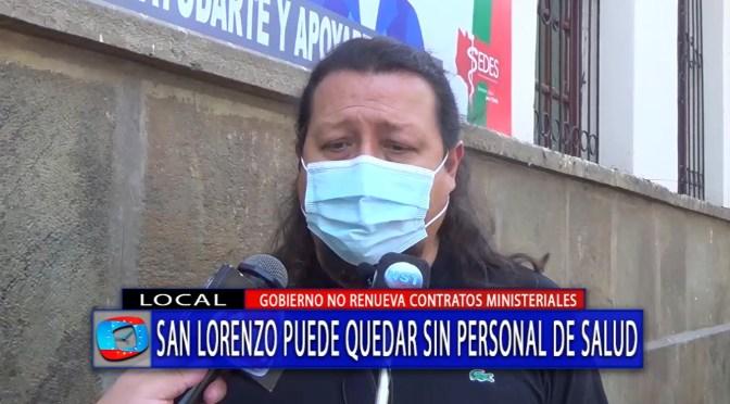 Personal de salud de San Lorenzo esperan recontratación para seguir trabajando