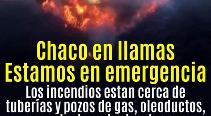 Emergencia en el Chaco: Incendio se acerca a zona petrolera en Villa Montes