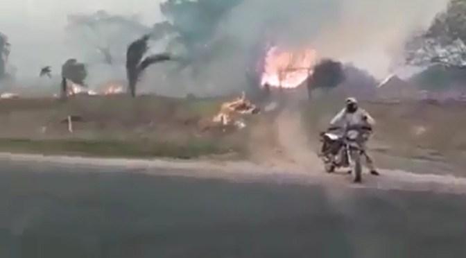 El fuego arrasa viviendas en la comunidad Yotaú