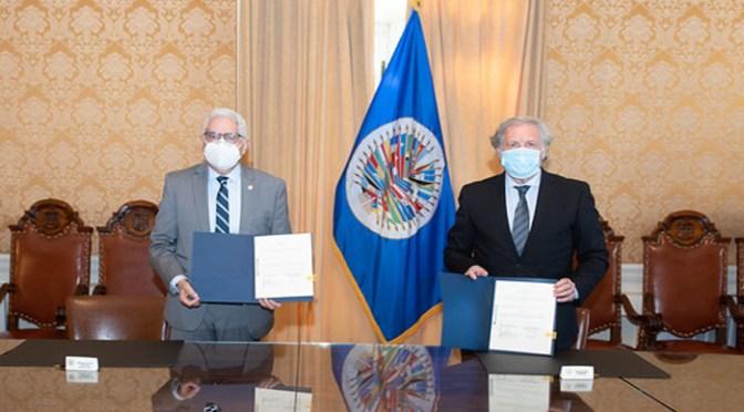 OEA y Bolivia firman acuerdo para observar elección de 18 de octubre