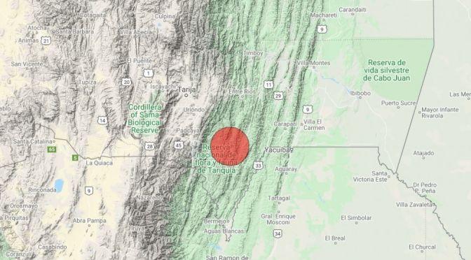 Tarija tembló debido a sismo en Salta Argentina
