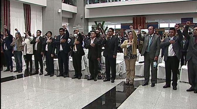 Conozca a los ministros que posesionó el presidente Luis Arce Catacora