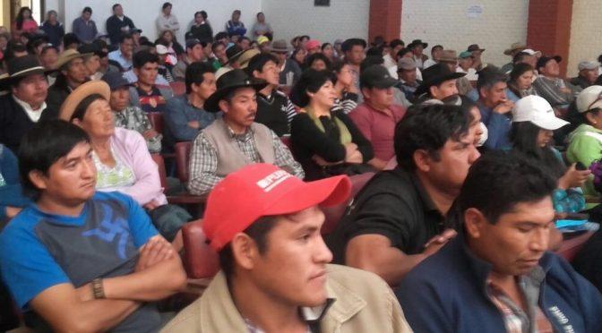 Sector campesino espera autorización del COED para convocar a congreso departamental