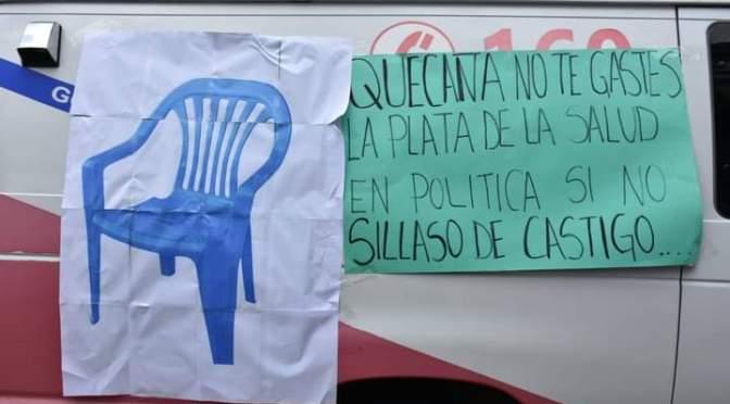 """Amenazan con """"sillazo"""" a Quecaña por deudas con el Gobierno Municipal"""