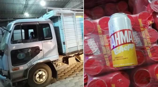 Decomisan un camión con cerveza de contrabando valuada en $us15.000 en Yacuiba