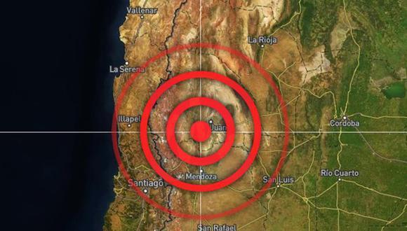 Sismo de magnitud 6,4 sacude a Argentina y Chile