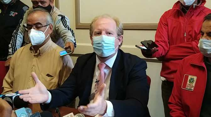 Gobernador Oliva gestiona 100 mil vacunas, se dará prioridad a grupos de riesgo alto