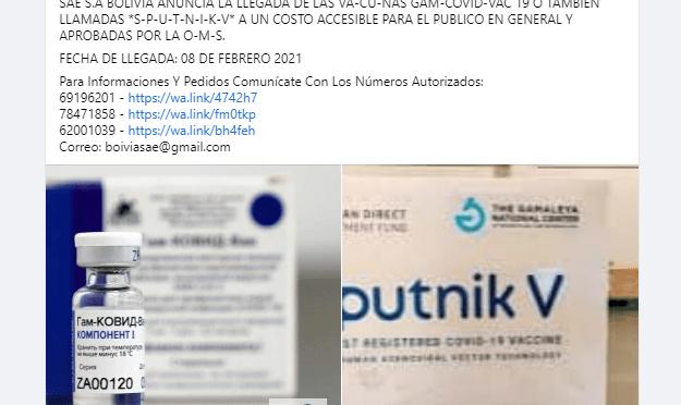 Policía alerta a la población de venta de vacunas falsificadas para el COVID 19