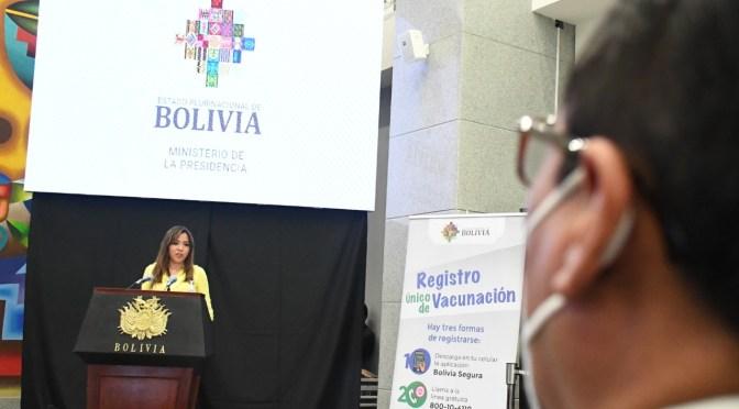 GOBIERNO PRESENTA EL REGISTRO ÚNICO DE VACUNACIÓN CONTRA LA COVID-19
