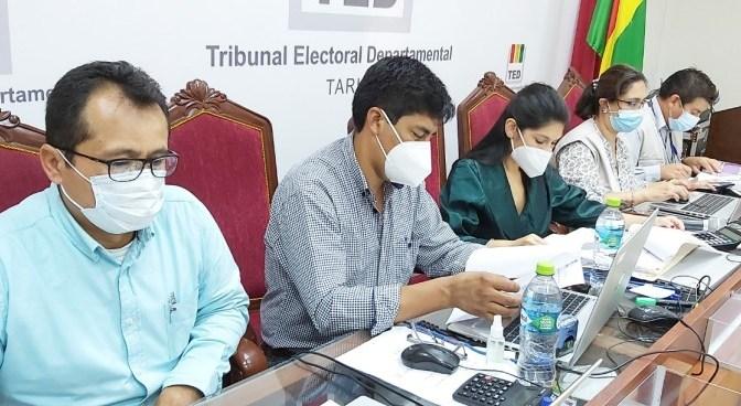Concluye el cómputo de actas de la elección del Gobernador de Tarija