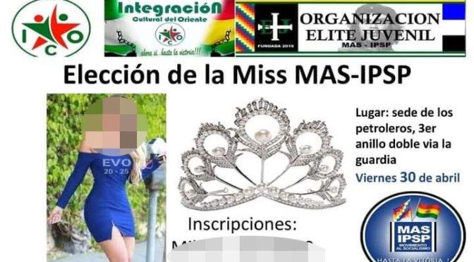Defensoría repudia la convocatoria a la elección de Miss MAS-IPSP
