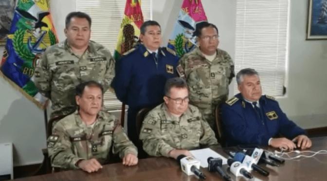 """Amplían dos nuevos delitos contra siete exjefes militares y policiales por el caso """"golpe"""" de Estado"""