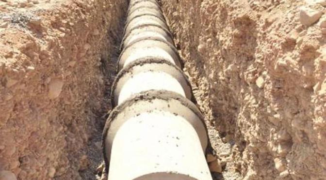 Inician obras de agua y alcantarillado y piden a la Gobernación desembolsar recursos
