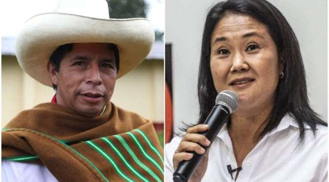 Perú culmina contabilización de actas con Castillo adelante por 44 mil votos