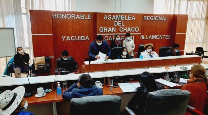 Yacuiba: Asamblea Regional analizará si le compete modificar ley del Fondo Rotatorio