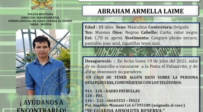 Policía busca a joven desaparecido, fue estafado por una vendedora de muebles