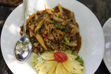 spicy minced meat railay beach