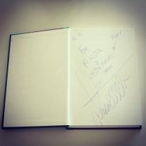 Rakstnieka autogrāfs