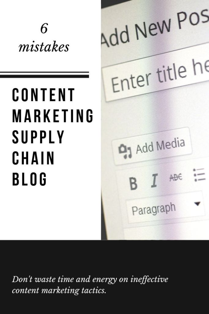Don't make these mistakes with your supply chain blog #contentmarketing #supplychain #logistics #freight #blogging