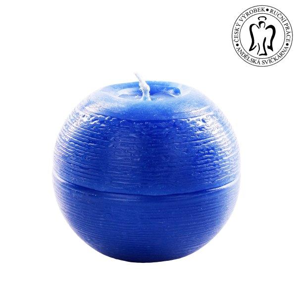 Modrá koule, Andělské svíčky, Andělská svíčkárna, e-shop, svíčky Praha, Blue ball, Angels candles, 04