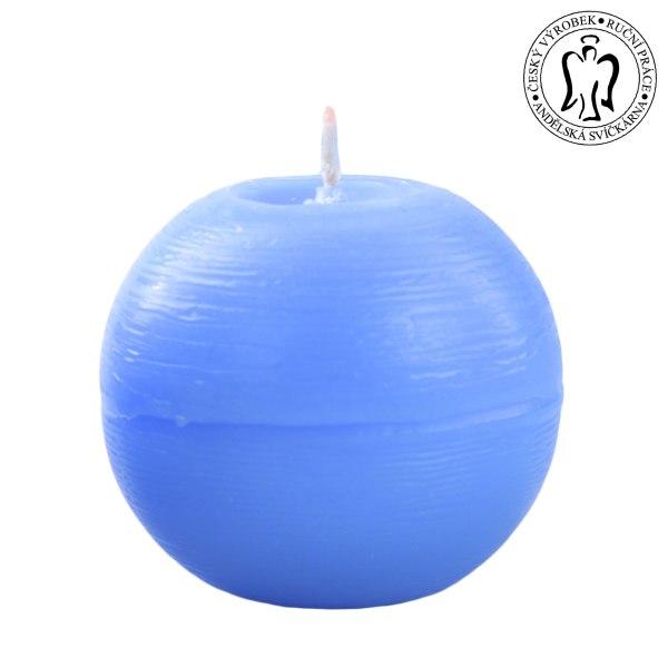 Světle modrá koule, Andělské svíčky, Andělská svíčkárna, e-shop, Light blue ball, Angels candles, 01