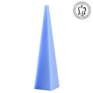 Světle modrý jehlan, svíčky e-shop, Andělská svíčkárna, light blue pyramid, candle, Angels candles 01