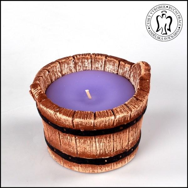 Vědro - letní svíčka - odpuzovač komárů - levandule