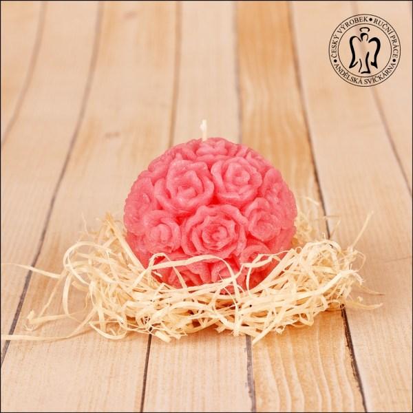 Růžičková koule – růžová