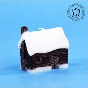 Zasněžený domeček – Vánoční svíčka 03