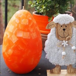 oranžové vajíčko,velká svíčka, velikonoční svíčky, easter candle, big candles, large, giant candle 11