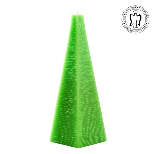 Zelený jehlan, svíčky, Praha, Andělská svíčkárna, Green pyramid, candles Prague, Angels candles 01