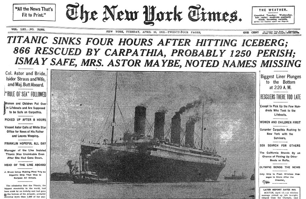 100 años de la tragedia del Titanic (2/2)