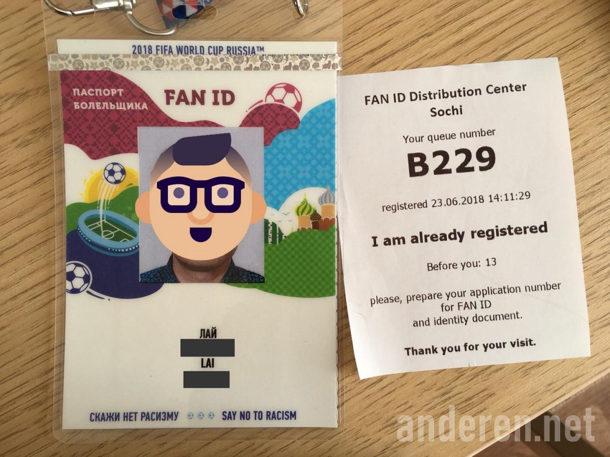 Fan ID, Sochi, 2018 World Cup, Projekt Anderen,