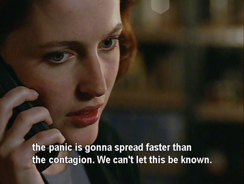 F. Emasculata, The X-Files Season 2, 2X22, Dana Scully, Gillian Anderson