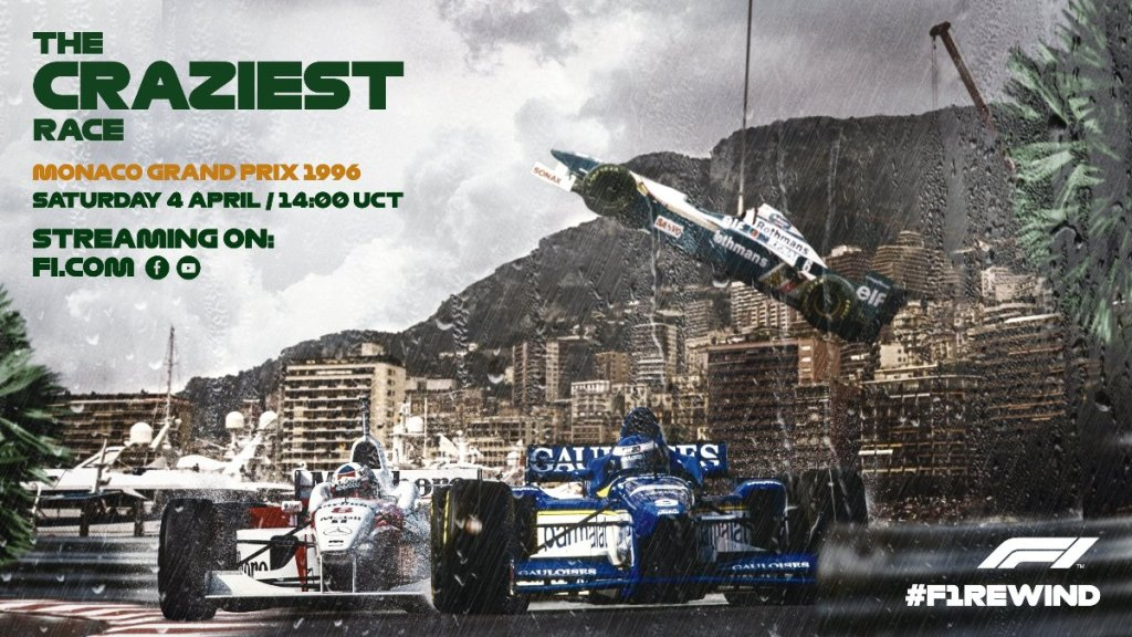 F1Rewind, Formula 1 1996 Monaco Grand Prix, 1996年一級方程式摩納哥站全場重播