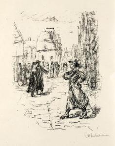 Max Liebermann: Illustration zu Der Rabbi von Bacherach.