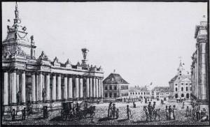 3. Die Königskolonnaden um 1784.
