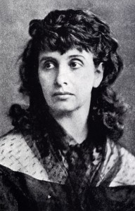 Porträt Hedwig Dohms um 1870.