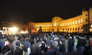 Wiener Akademikerball 2013, Demonstration, Heldenplatz, Wien