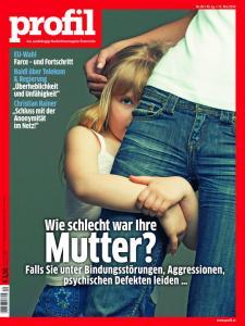 """""""profil"""" cover, May 12, 2014. Christian Rainer demands """"Schluss mit der Anonymität im Netz!"""" (""""No more Internet anonymity!""""). — Image courtesy of profil"""