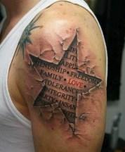 shoulder star