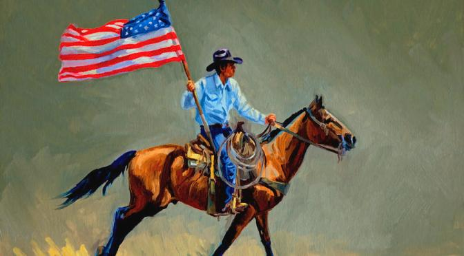 The All-American Cowboy. Painting by Randy Follis.