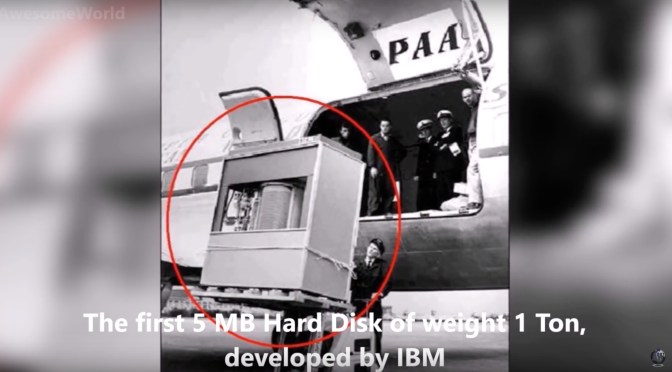 The First Hard Disk Ever: 1 Metric Ton for 3.75 Megabytes