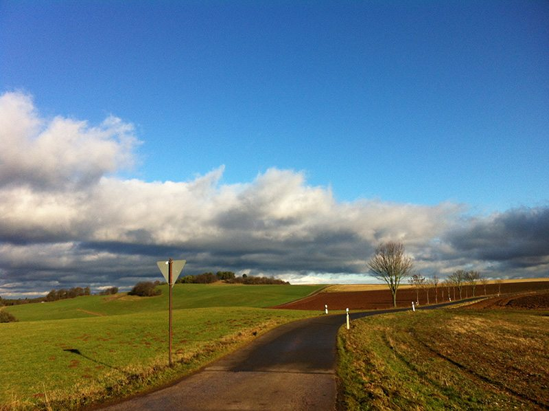 Himmel, Eifel, Felder, Wolken: