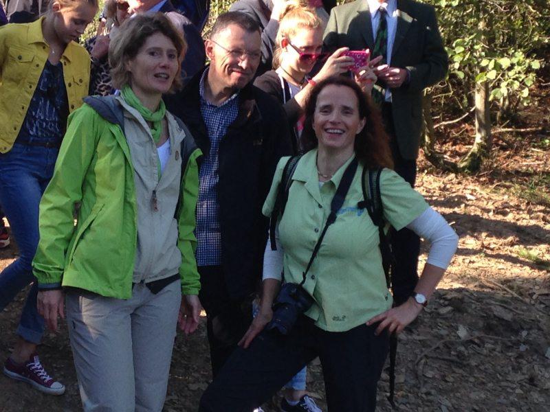 Geierley-Hängebrücke: Am Eröffnungstag war auch einiges an Prominenz vor Ort, darunter auch die Wirtschaftsministerin Rheinland-Pfalz, Eveline Lemke