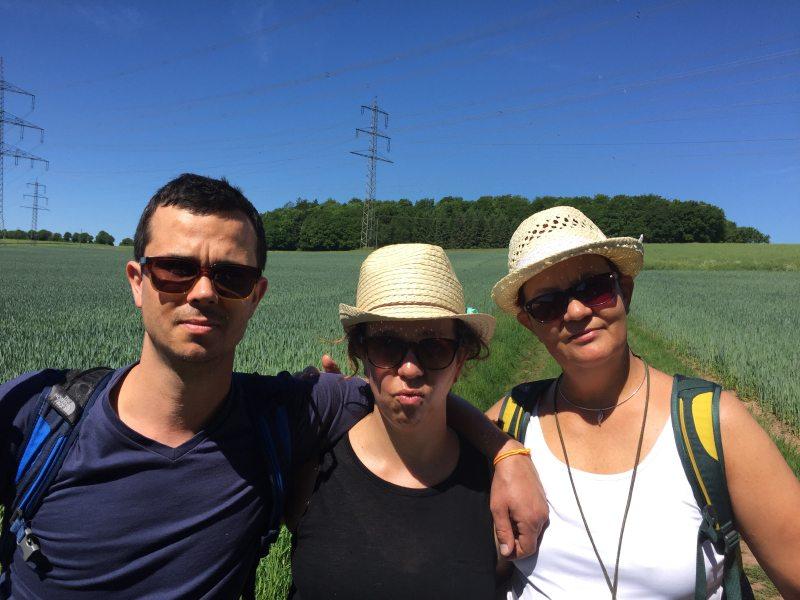 Mit Britta, Kathy und Andi auf dem Römerpfad durch das Butzerbachtal