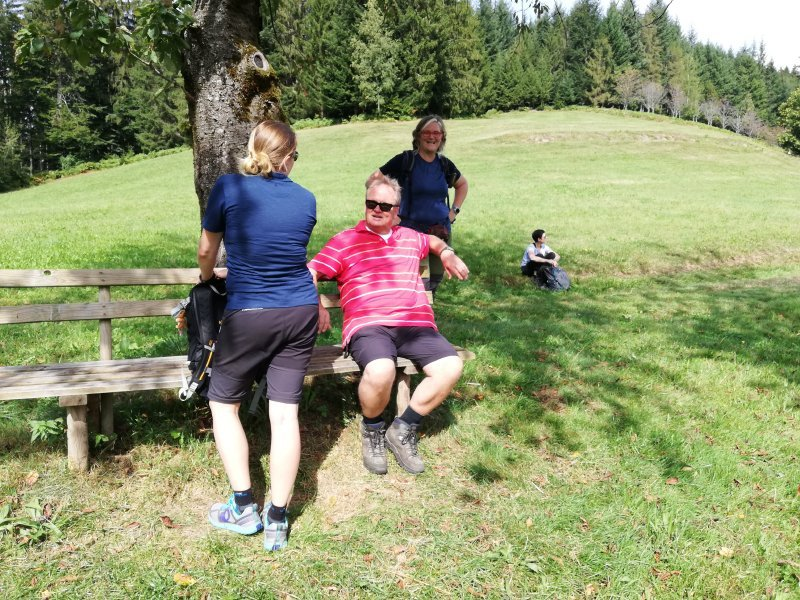Jede Menge Bänke, jede eine willkommene Rast für den Schwarzwaldsteig-Wanderer